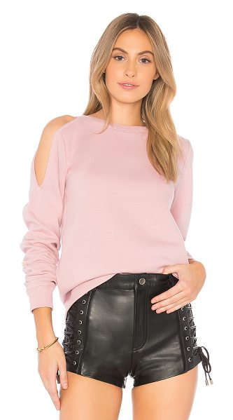 Rebecca Minkoff Elton Sweatshirt in pink - Self: 55% cotton 45% poly. Dry clean recommended....