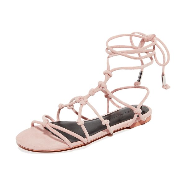 Rebecca Minkoff elyssa sandals in nude - Delicate, knotted straps form a caged effect on these...