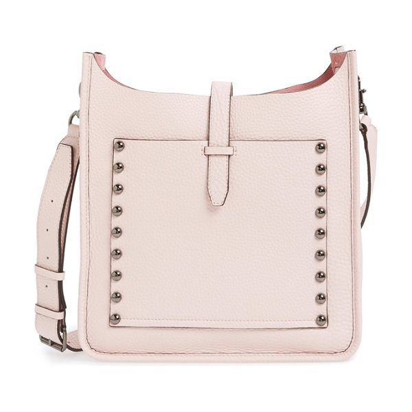 Rebecca Minkoff Feed bag in pale blush/ gunmetal hrdwr - Dome studs trace the svelte, minimalist profile of a...