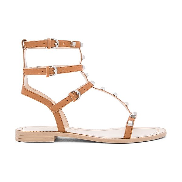 Rebecca Minkoff Georgina Sandal in tan - Leather upper with rubber sole. Ankle straps with buckle...