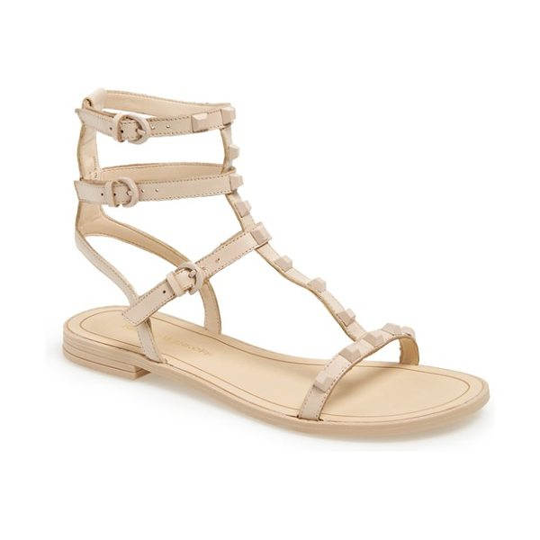 REBECCA MINKOFF georgina studded leather sandal - The season's gotta-have-it gladiator sandal gets a dose...