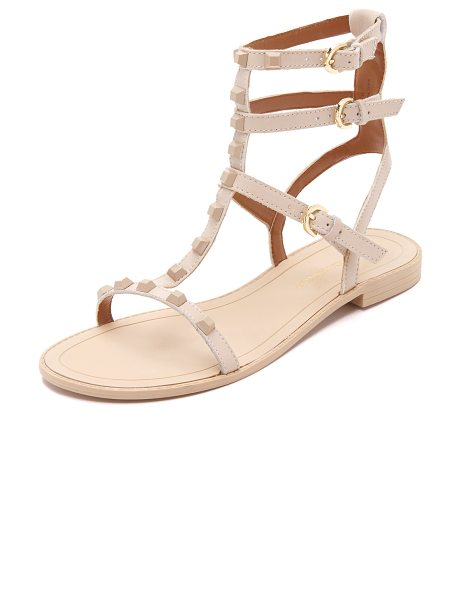 Rebecca Minkoff Georgina studded sandals in blush - Tonal studs detail the slim, leather straps on these...