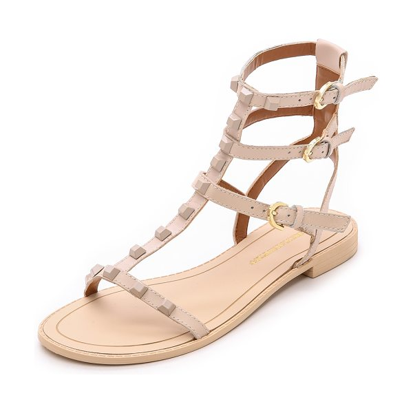 Rebecca Minkoff Georgina studded sandals in blush - Tonal pyramid studs add an edgy element to these strappy...