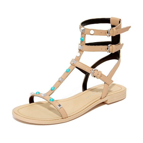 Rebecca Minkoff georgina too studded sandals in nude - Polished studs and colorful beads add unique charm to...
