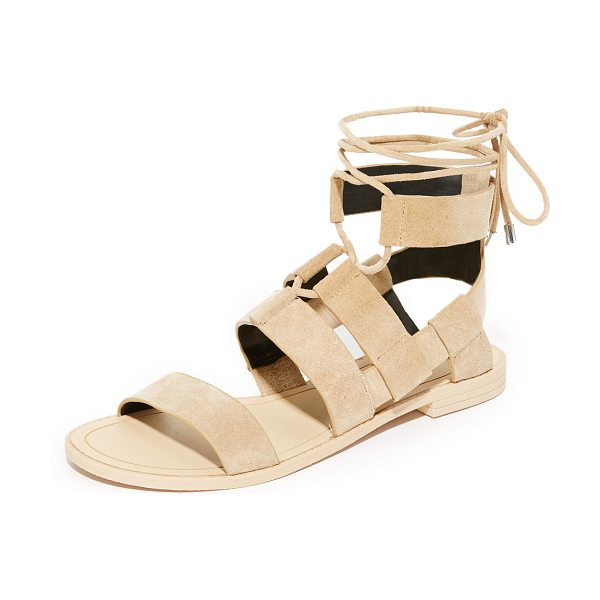 Rebecca Minkoff giada sandals in taupe - Layered straps of luxe suede compose these Rebecca...