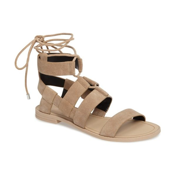 REBECCA MINKOFF giada strappy sandal - Bold suede sandal straps intersect geometrically with...