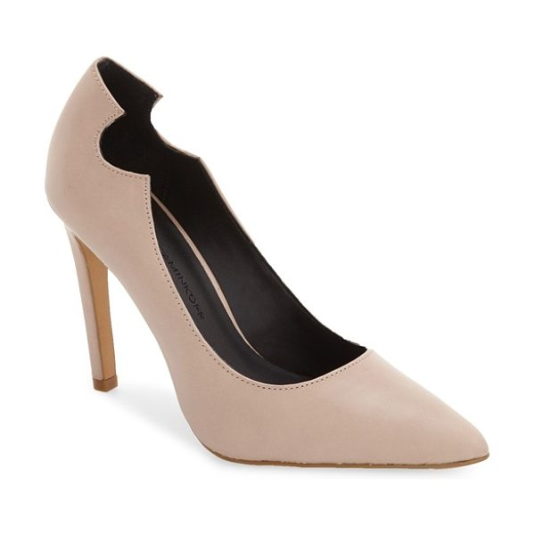 REBECCA MINKOFF hailey pump - A rounded notch details the topline of this almond-toe...