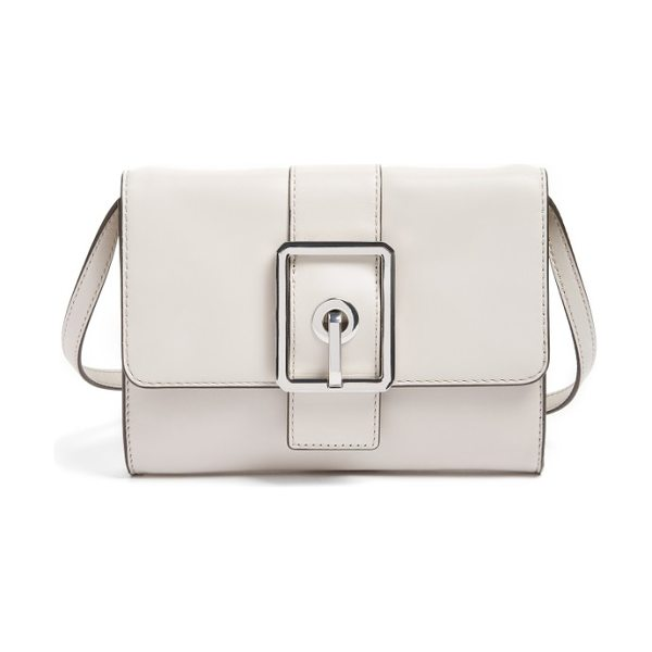 Rebecca Minkoff hook up convertible leather clutch in putty/ silver - Get the latest style hook-up with this leather handbag...