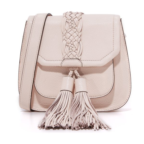 REBECCA MINKOFF isobel front pocket saddle bag - Oversized tassels dangle from the front pocket of this...