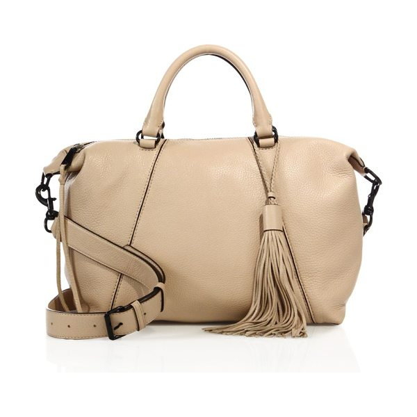 Rebecca Minkoff isobel leather satchel in nude - Spacious leather satchel with swishy tassel charm....