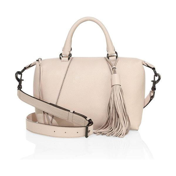 Rebecca Minkoff isobel small leather satchel in soft blush - Amply sized paneled satchel with tassel accent. Double...