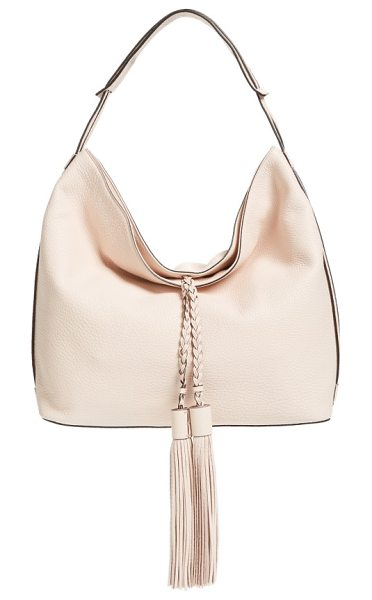 Rebecca Minkoff 'isobel' tassel leather hobo in soft blush - Oversized tassel embellishments add a bold, retro-cool...