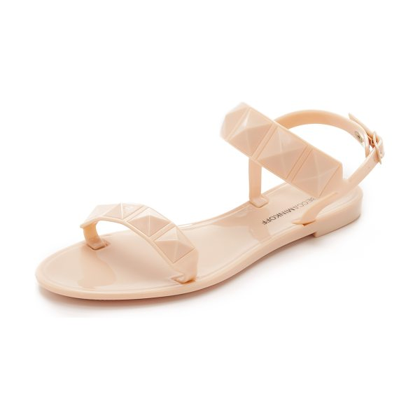 Rebecca Minkoff Jana jelly sandals in nude - Studs accent the rubber straps on these Rebecca Minkoff...