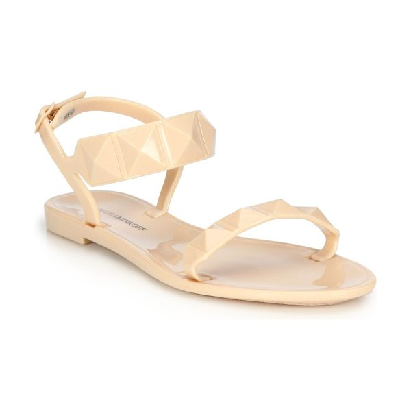 Rebecca Minkoff Jana studded flat jelly sandals in nude - Edgy studded sandal of durable PVCPVC upperAdjustable...