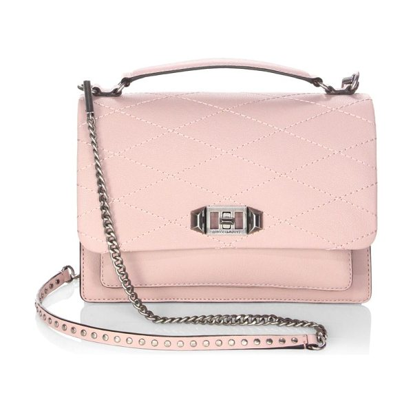 Rebecca Minkoff je t'aime medium crossbody bag in vintage pink - Genuine leather crossbody bag with trellis stitching....