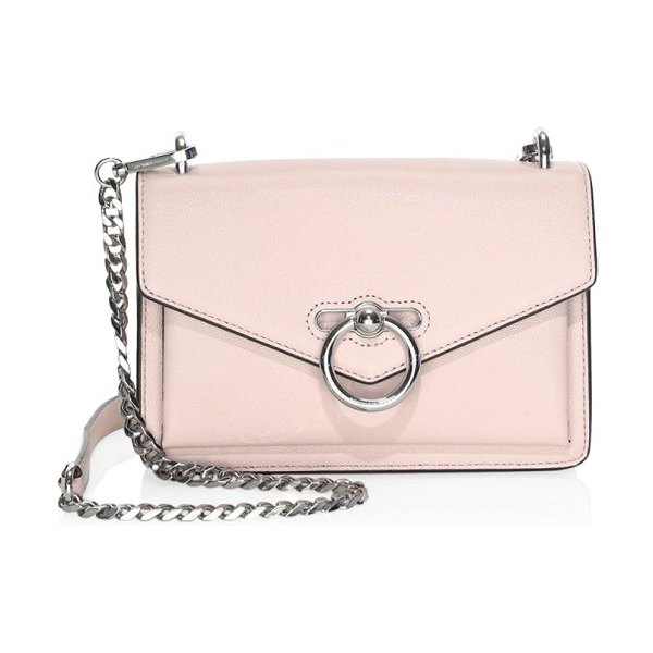 Rebecca Minkoff jean leather crossbody bag in peony - Envelope-shaped bag features polished ring hardware....