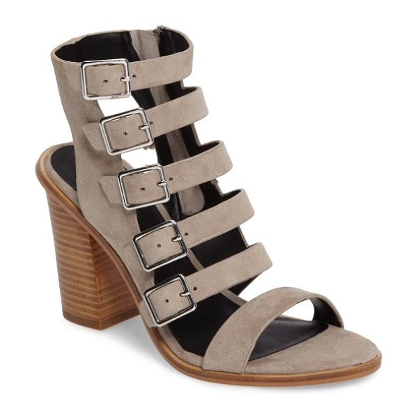 Rebecca Minkoff jenna cage sandal in sand - A sandal that means business when it comes to modern...