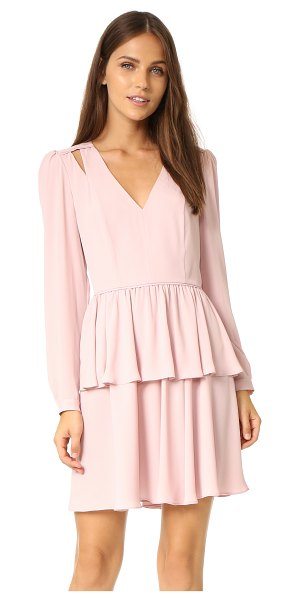 Rebecca Minkoff Jina dress in blush - A sharp seamed Rebecca Minkoff dress with a deep V...