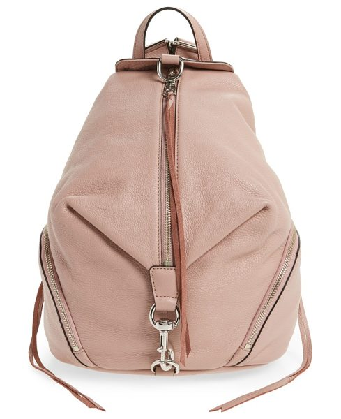 REBECCA MINKOFF julian backpack - A campus-classic backpack goes glam in glazed, lavishly...