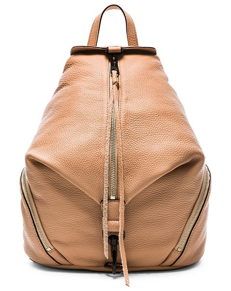 Rebecca Minkoff Julian backpack in blush - Leather exterior with jacquard fabric lining. Measures...