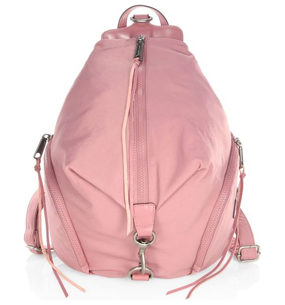 Rebecca Minkoff julian backpack in pink - Chic nylon backpack for your everyday collection. Top...