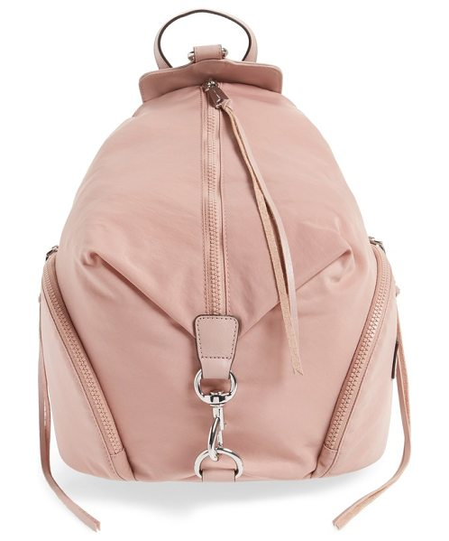 REBECCA MINKOFF julian nylon backpack in vintage pink - A campus-classic backpack goes sporty in sleek,...