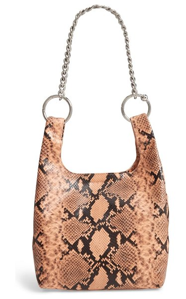 Rebecca Minkoff karlie chain leather shopper in pink