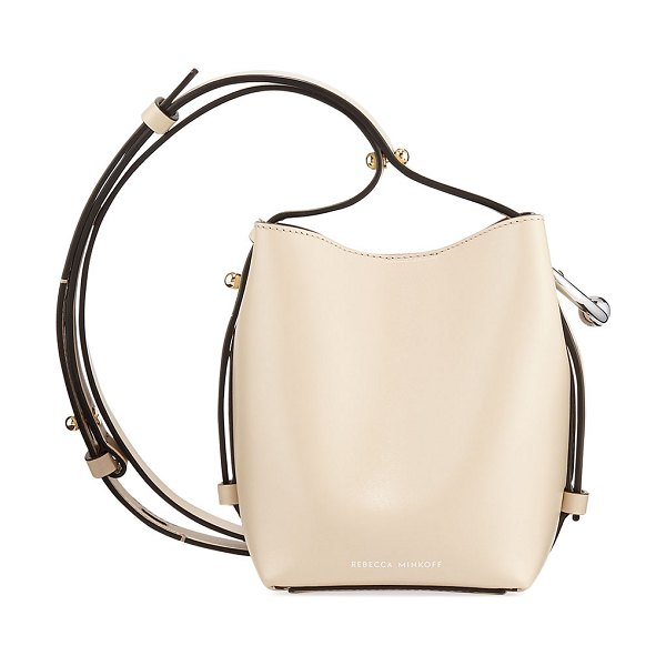 Rebecca Minkoff Kate Mini Smooth Leather Bucket Bag in clay