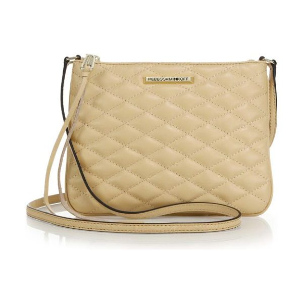 Rebecca Minkoff Kerry quilted crossbody bag in biscuit