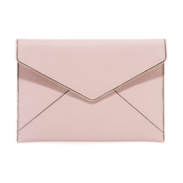 Rebecca Minkoff leo clutch in vintage pink - Exposed zipper trim brings industrial edge to this...