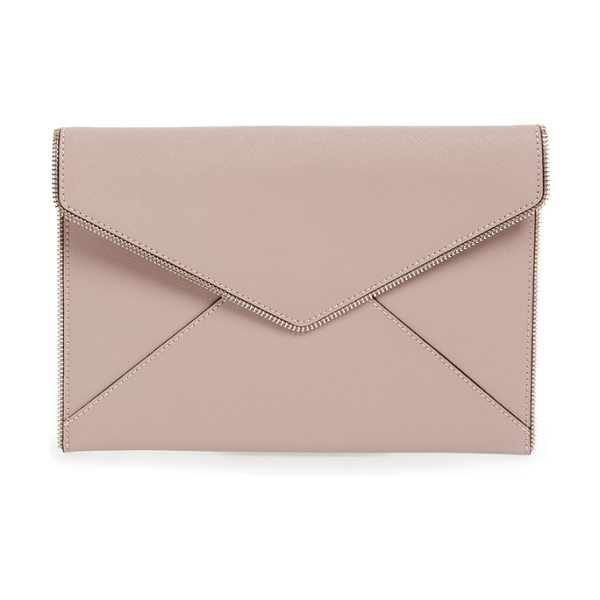 REBECCA MINKOFF leo envelope clutch - Open zip teeth trace the edges of a slim envelope-flap...
