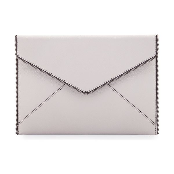REBECCA MINKOFF Leo Saffiano Envelope Clutch Bag - Rebecca Minkoff envelope clutch bag in saffiano leather....
