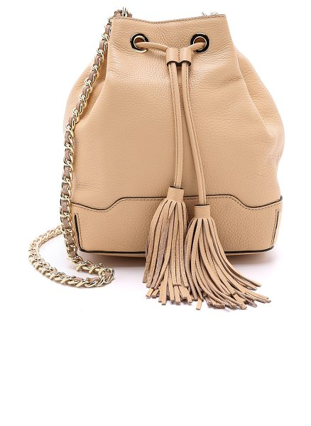 Rebecca Minkoff Lexi bucket bag in biscuit - A charming Rebecca Minkoff bucket bag, rendered in...
