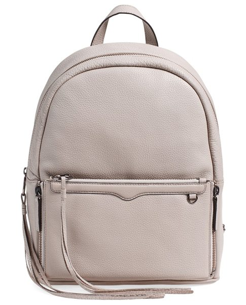 Rebecca Minkoff Lola backpack with detachable crossbody in putty/ gunmetal hrdwr - Amp up your traveling style with a backpack that boasts...