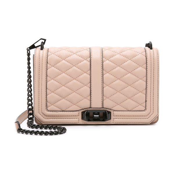 Rebecca Minkoff Love cross body bag in latte - A leather Rebecca Minkoff cross body bag with quilted...