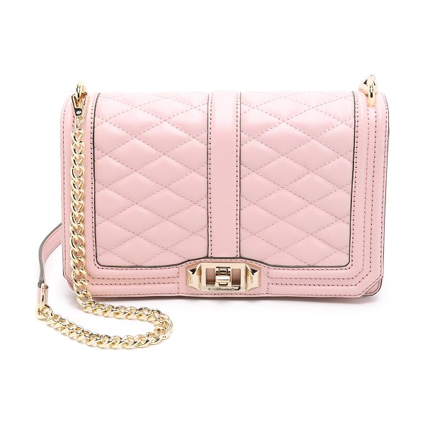 Rebecca Minkoff Love cross body bag in baby pink - A leather Rebecca Minkoff cross body bag with quilted...