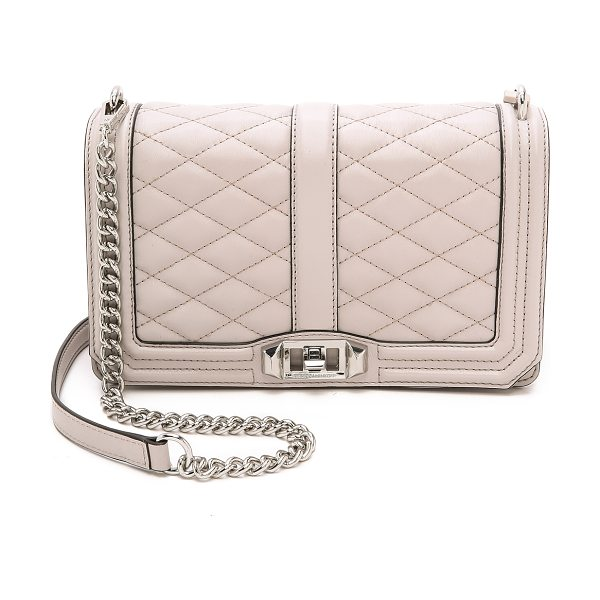 Rebecca Minkoff Love cross body bag in putty - A Rebecca Minkoff cross body bag in quilted leather. A...