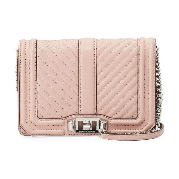 REBECCA MINKOFF Love Small Chevron Quilted Crossbody Bag - Rebecca Minkoff chevron quilted leather crossbody bag...