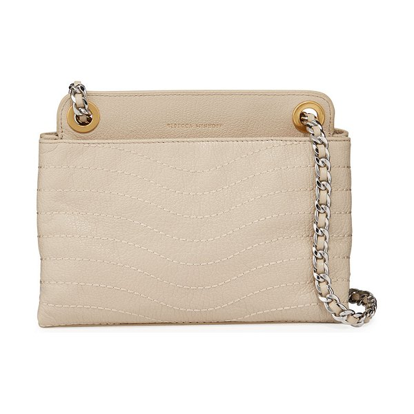 Rebecca Minkoff MAB Wave Double Zip Crossbody Bag in taupe