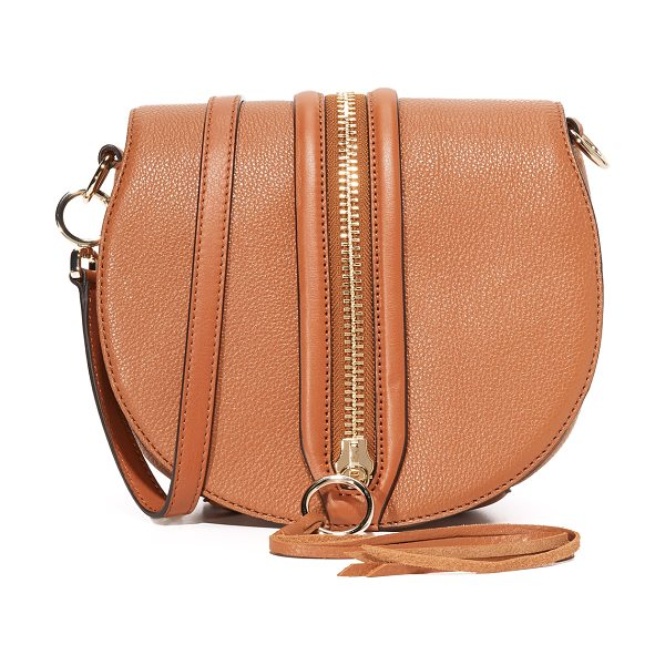 REBECCA MINKOFF Rebecca Minkoff Mara Saddle Bag - A decorative zip punctuates the magnetic top flap of...