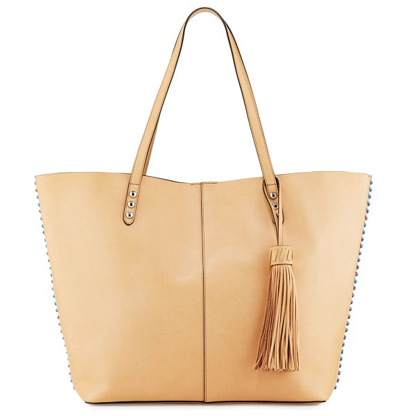 Rebecca Minkoff Medium Climbing Rope Unlined Tote Bag in natural - Rebecca Minkoff smooth calfskin tote bag. Multicolor...