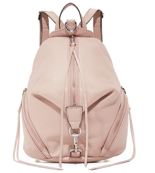 Rebecca Minkoff Medium julian backpack in vintage pink - Rebecca Minkoff offers a scaled down backpack in classic...