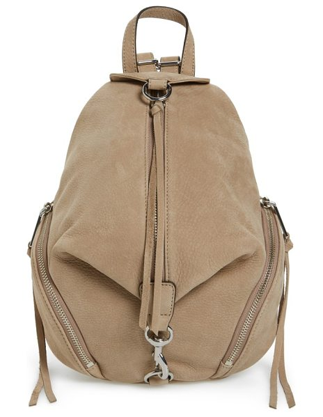 Rebecca Minkoff medium julian nubuck backpack in sandstone nubuck/ silver hrd