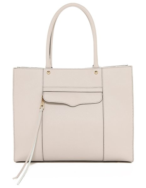 Rebecca Minkoff Medium mab tote in putty - Crisp saffiano leather lends this Rebecca Minkoff tote...