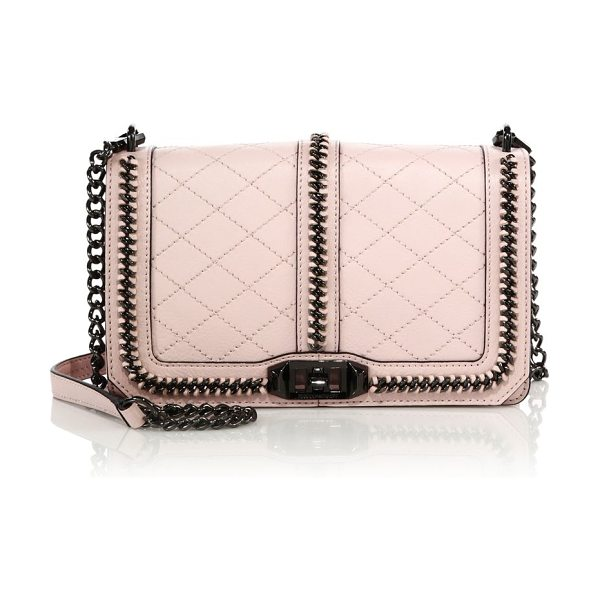 Rebecca Minkoff Miami love topstitched leather crossbody bag in babypink - EXCLUSIVELY AT SAKSFrom the Rebecca Minkoff Blogger...