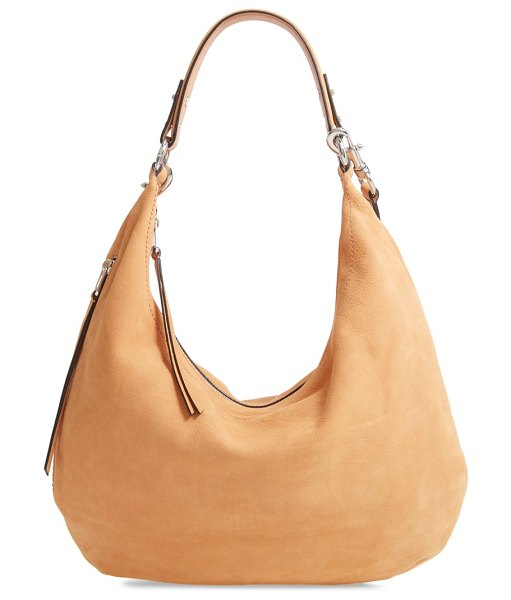 Rebecca Minkoff michelle nubuck leather hobo in brown