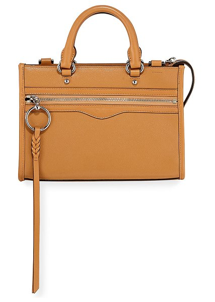 Rebecca Minkoff Micro Bedford Zip Satchel Bag in honey