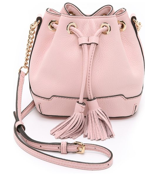 Rebecca Minkoff Micro lexi bucket bag in baby pink - A petite Rebecca Minkoff bucket bag in pebbled leather....