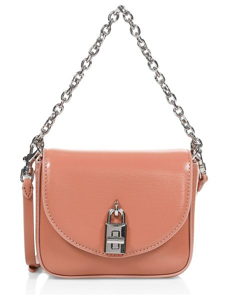 Rebecca Minkoff micro love too leather shoulder bag in desert rose