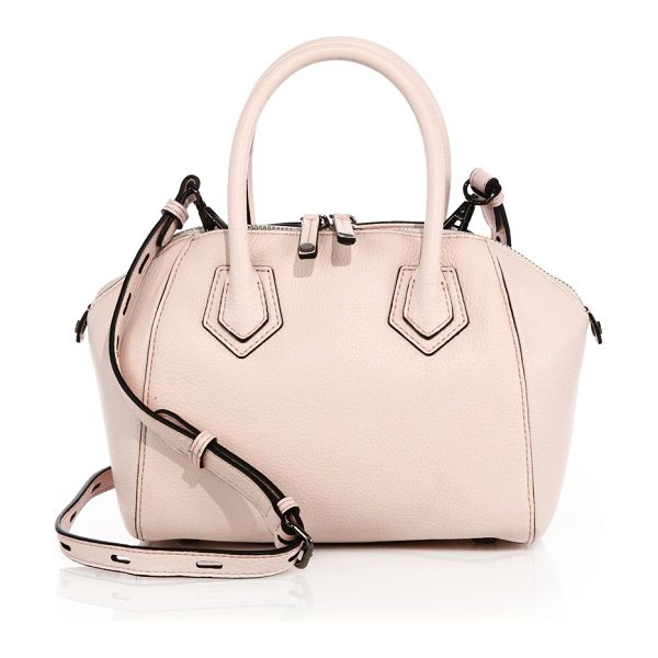Rebecca Minkoff Micro perry leather satchel in paleblush - Micro satchel with structured architectural shapeDual...